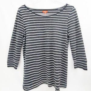 MADEWELL Hi-Line Black Stripe Cotton Tee EUC